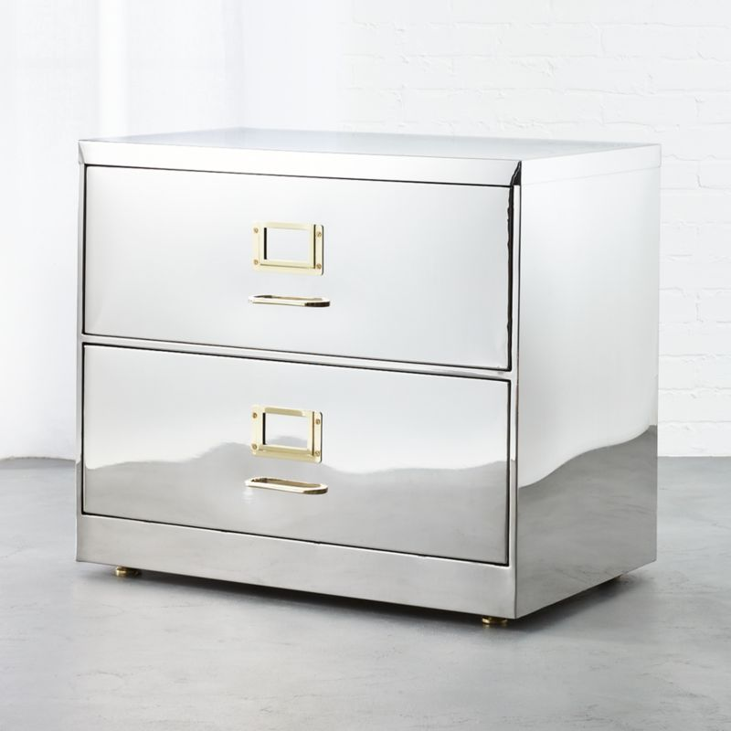 Attrayant Stainless Steel Wide File Cabinet