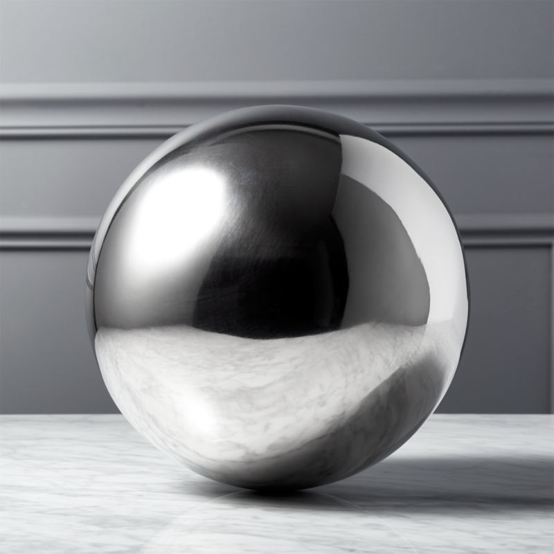 "<span class=""copyHeader"">have a ball.</span> Shiny styling metal orb adds spherical influence.<br /><br /><NEWTAG/><ul><li>Polished stainless steel</li><li>Clean with a soft, dry cloth</li></ul>"