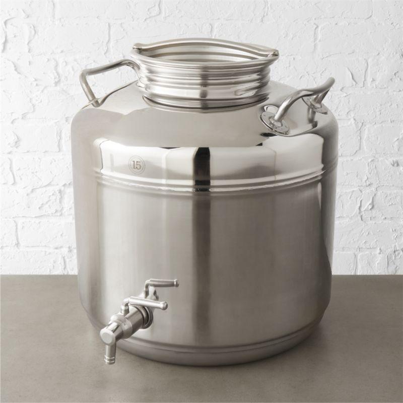 Fustis Stainless Steel Beverage Dispenser Cb2