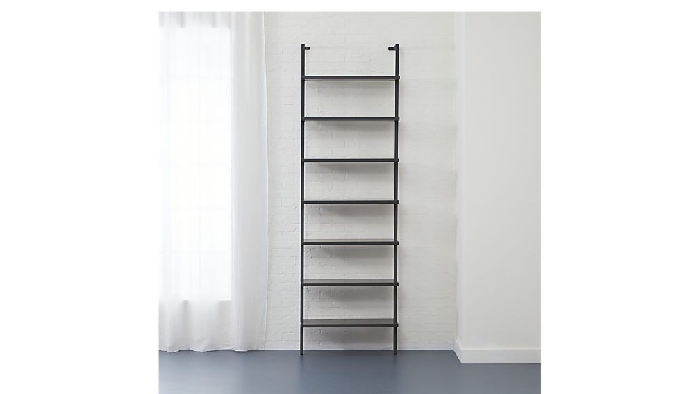 "stairway grey 96"" wall mounted bookcase"