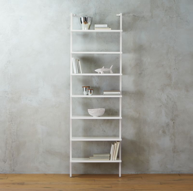 Stairway White Ladder Bookcase Reviews Cb2