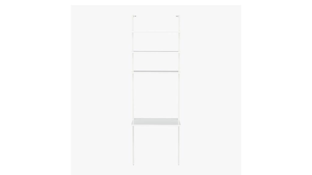 """stairway white 96"""" desk"""