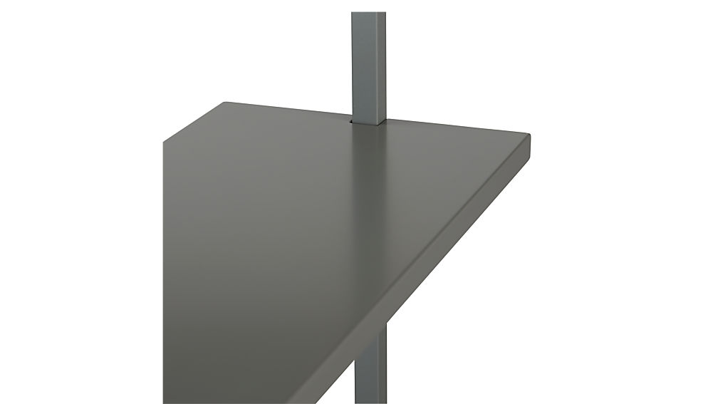 """stairway grey 96"""" wall mounted bookcase"""