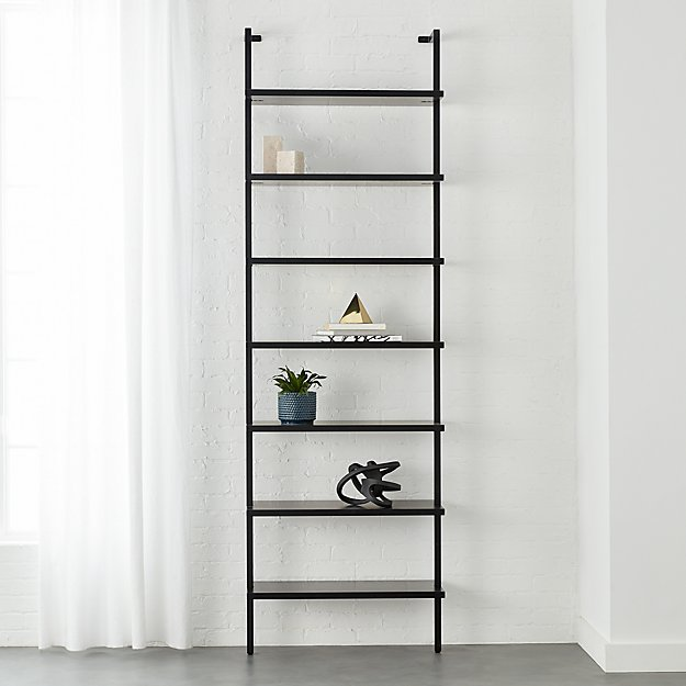 Stairway Black 96 Quot Wall Mounted Bookcase Cb2