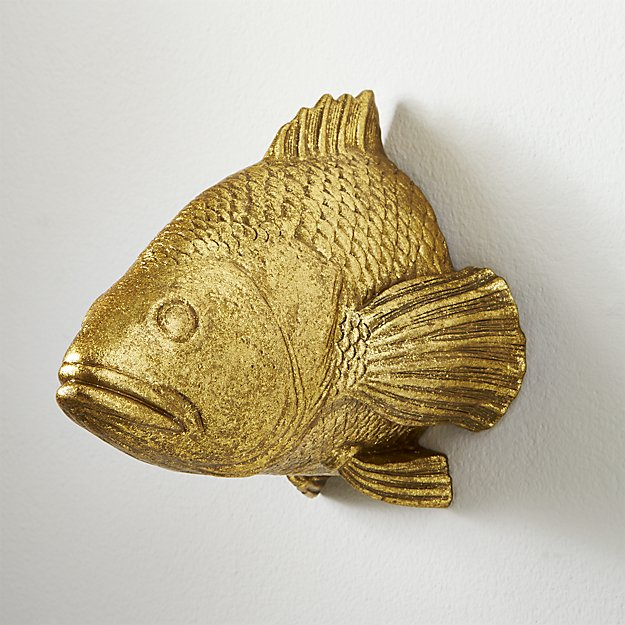 stan the goldfish wall hanging in wall décor + Reviews | CB2