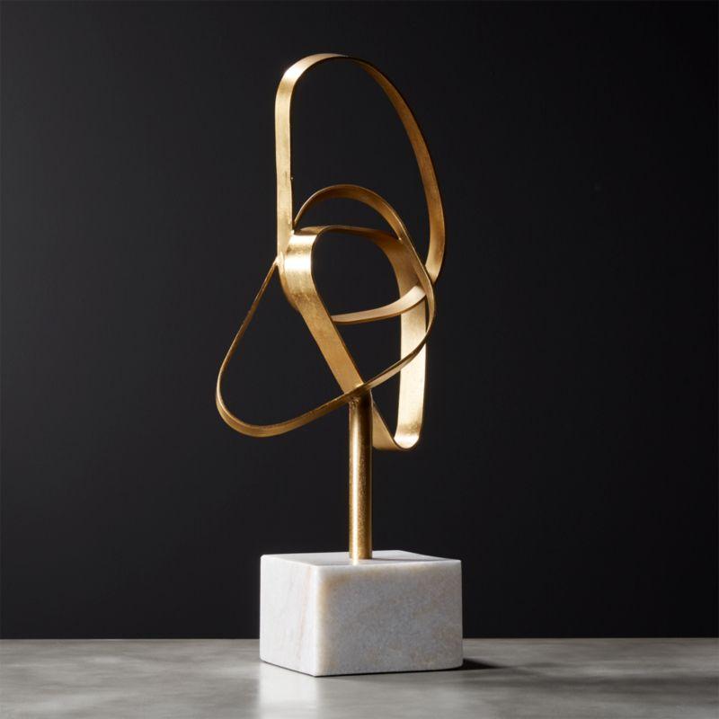 Standing Infinity Brass Knot Sculpture Reviews Cb2