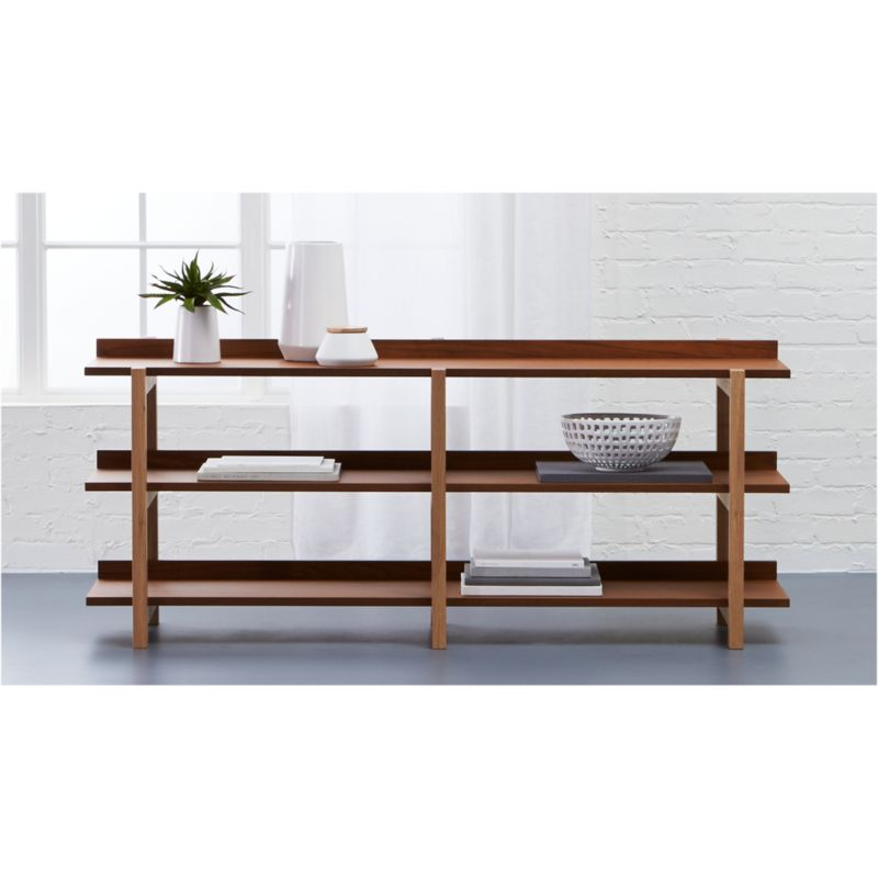 stax 3shelf console table CB2