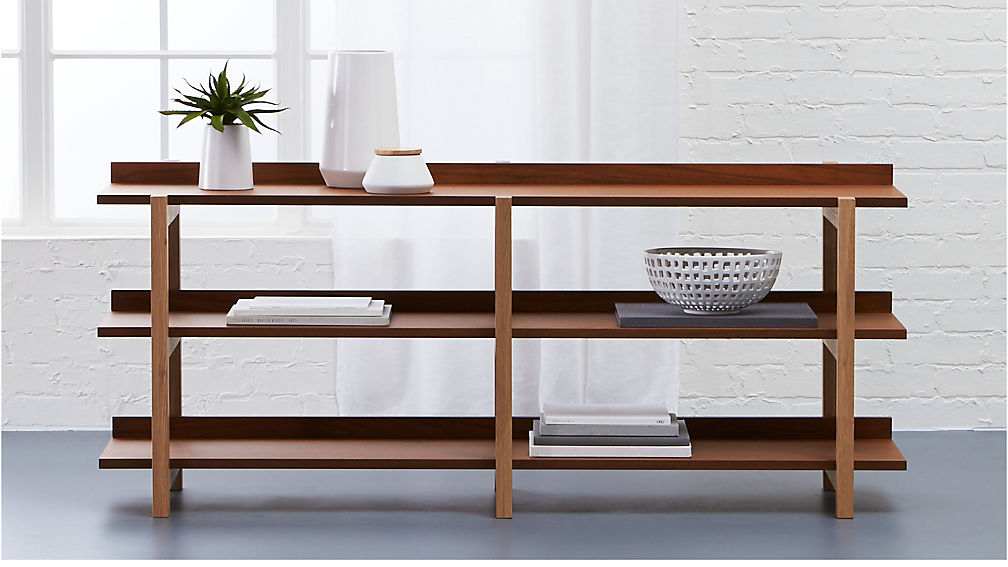 Stax 3 Shelf Console Table Reviews Cb2