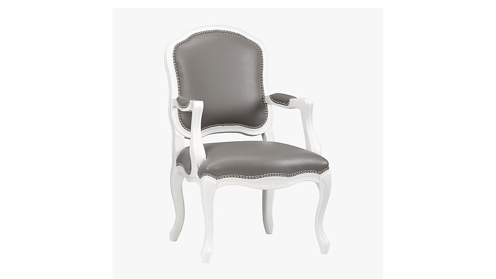 stick around grey and white dining chair CB2