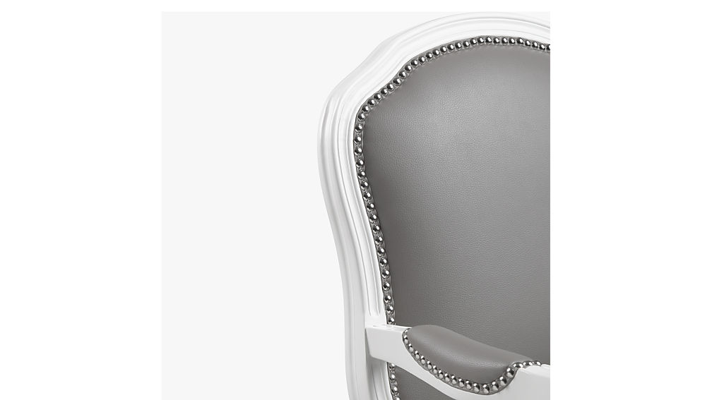 stick around white-grey arm chair