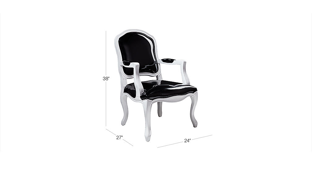 Stick Around Black Patent Leather Chair Cb2