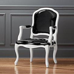 Stick Around White Grey Arm Chair Cb2