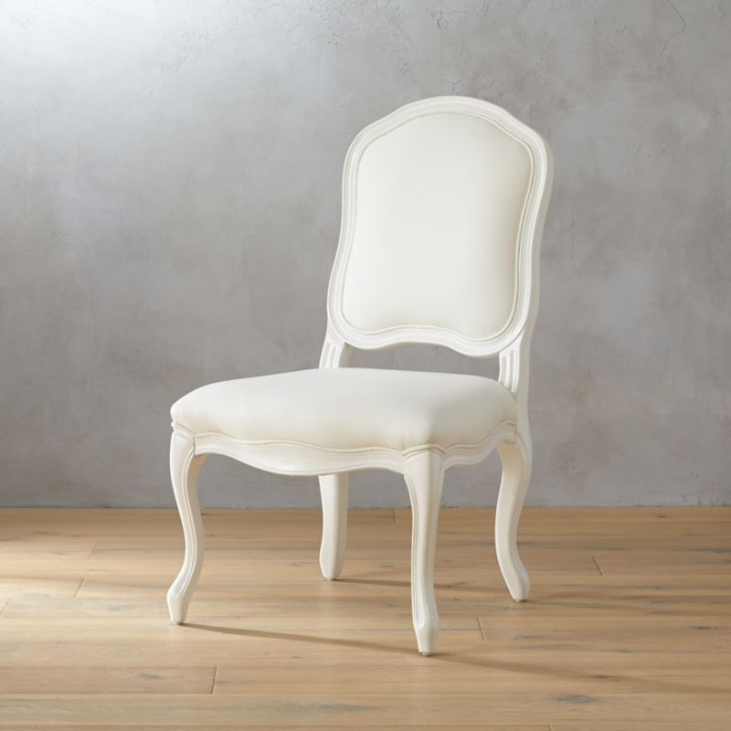 stick around white side chair