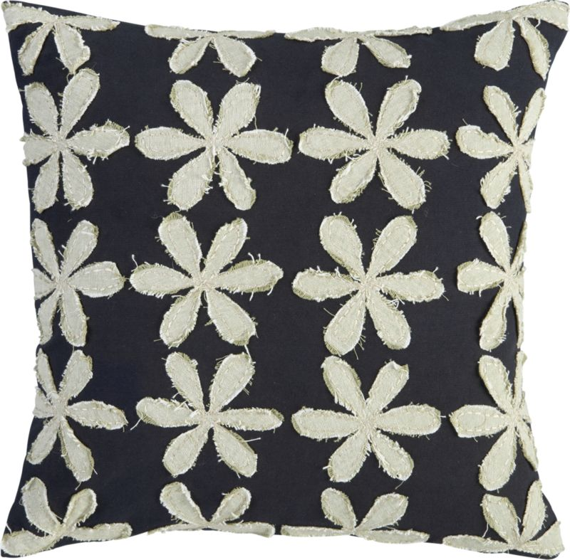 """stitched flower 16"""" pillow"""
