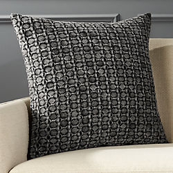 "20"" Black Stonewash Pillow with Down-Alternative Insert"