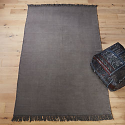 stonewashed cool grey wool rug 9'x12'