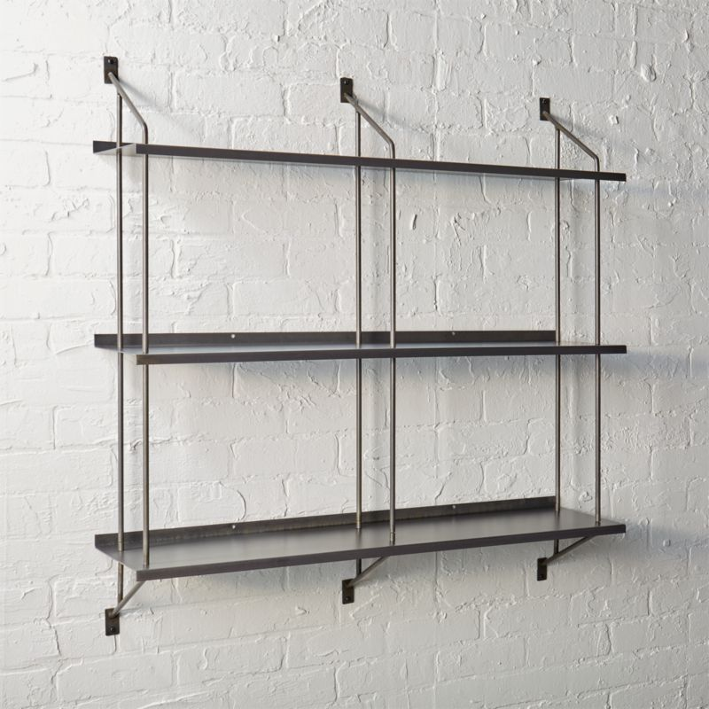 stretch modular wall shelf. Modern Wall Decor and Wall Shelves   CB2