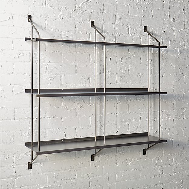 stretch modular wall shelf | cb2