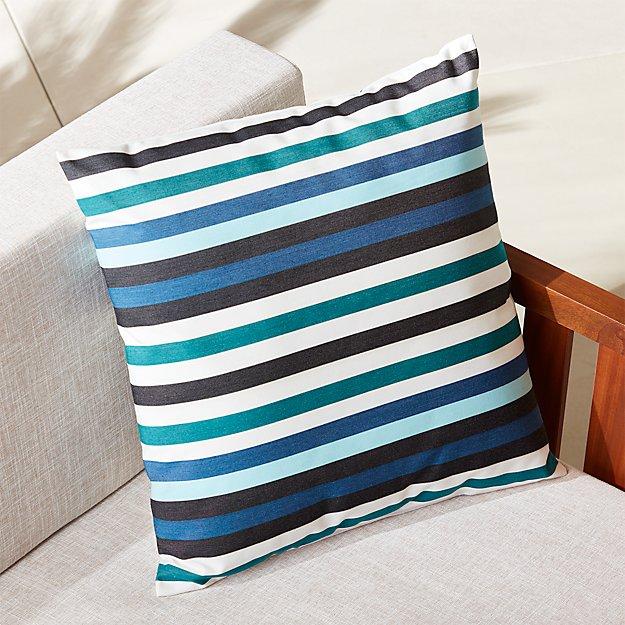 """20"""" la mer bleue outdoor pillow"""