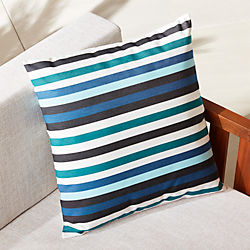 "20"" la mer bleue outdoor pillow"
