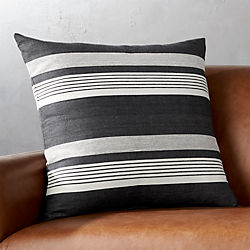 "20"" Stripe Denim Pillow with Down-Alternative Insert"