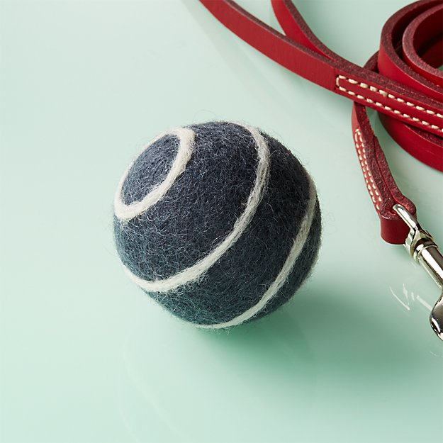 Stripe Felted Wool Small Ball Dog Toy