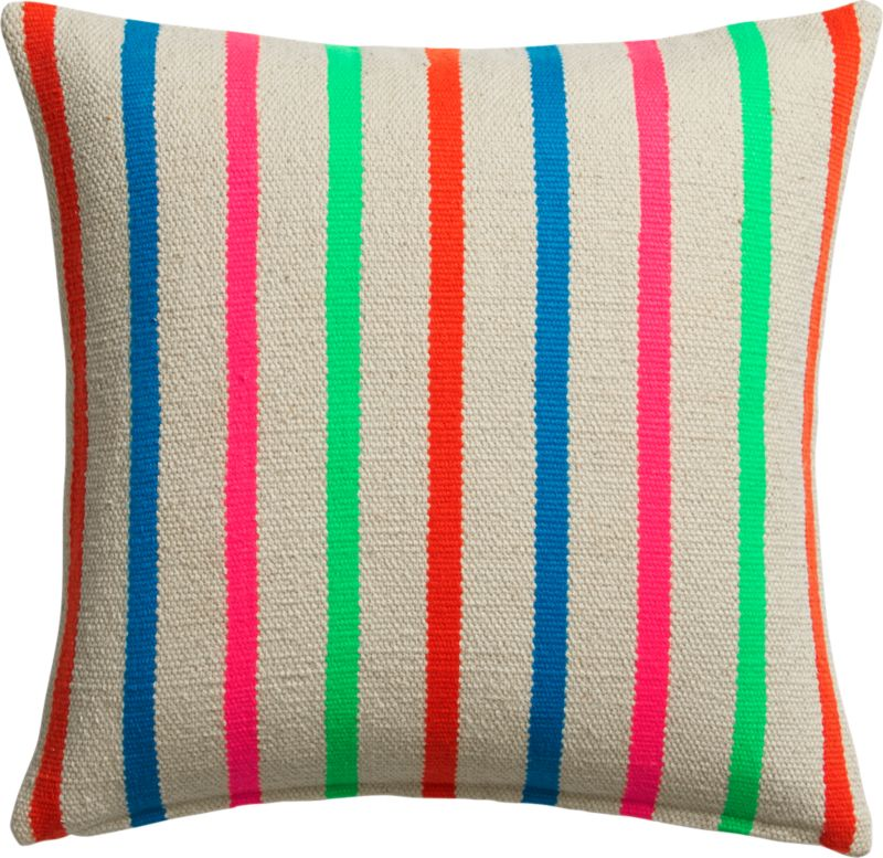"""stripe riot 18"""" pillow with feather-down insert"""