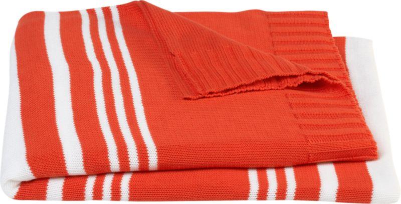 striped orange throw