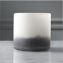 sumi glass tea light candle holder