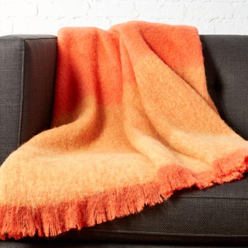 Sunset Alpaca Orange Throw Reviews Cb2