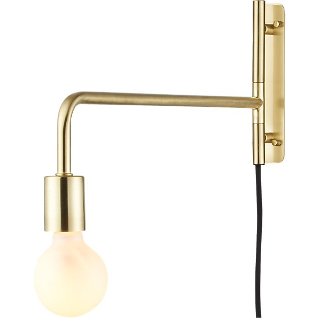 Bathroom Lighting Remodelista: Swing Arm Brass Wall Sconce + Reviews