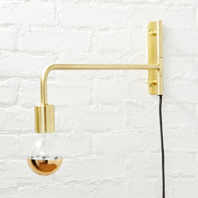Swing Arm Brass Wall Lamp Cb2