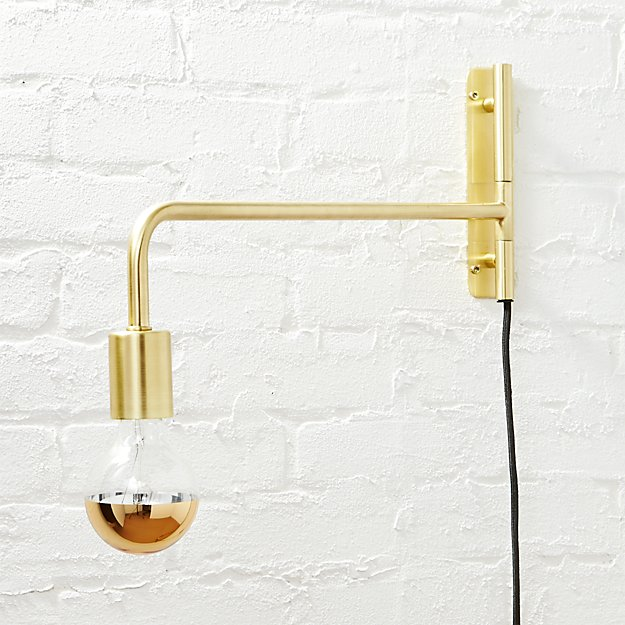 swing arm wall sconce swing arm brass wall sconce reviews cb2 10786