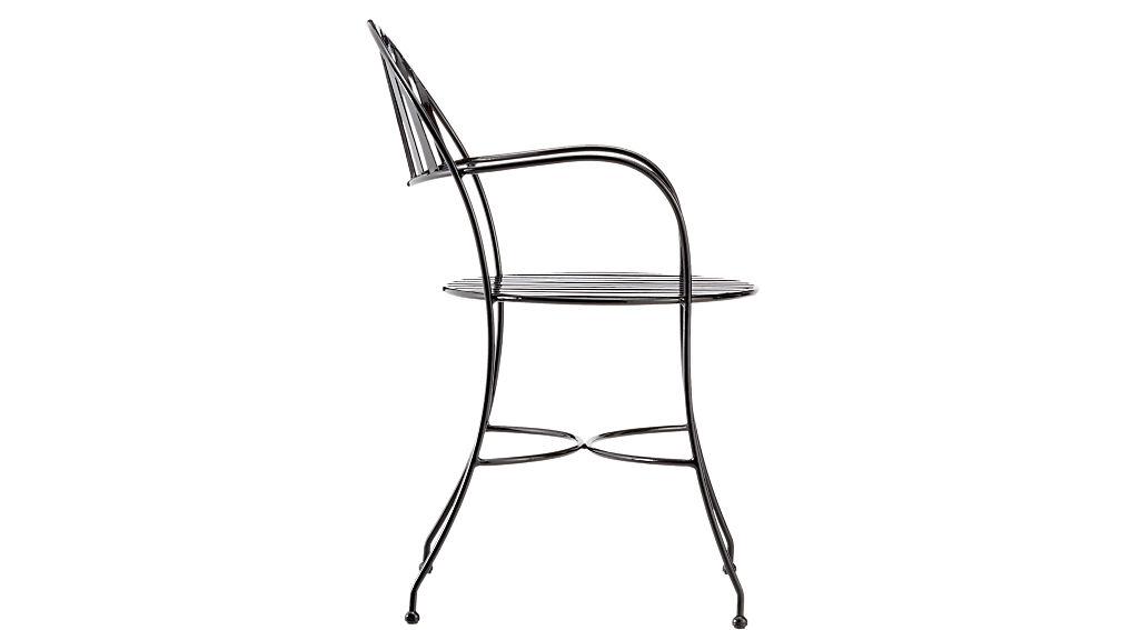 swoop black outdoor chair