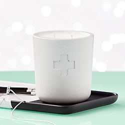 Sydney Hale White Cement Rescue Oaked Bitter Orange Candle
