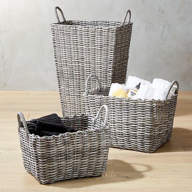 Sydney Grey Baskets