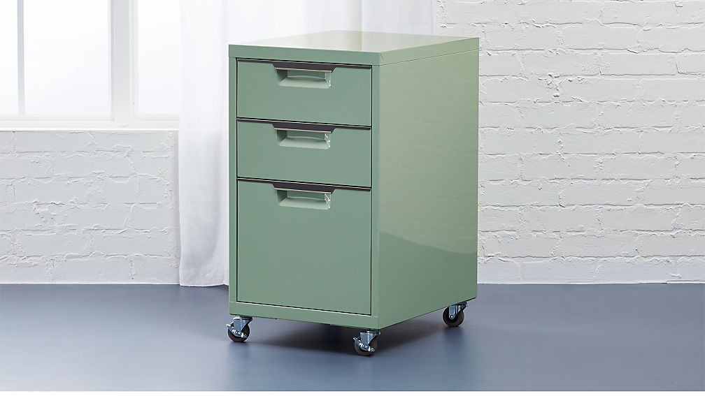 TPS Mint 3 Drawer Filing Cabinet | CB2