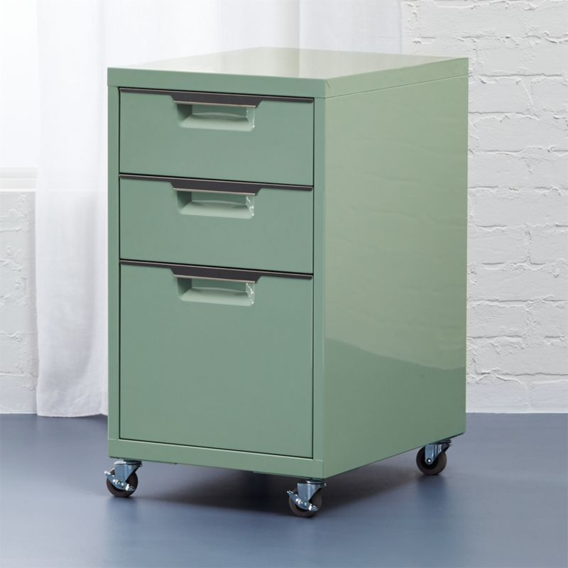 TPS Mint 3 Drawer Filing Cabinet