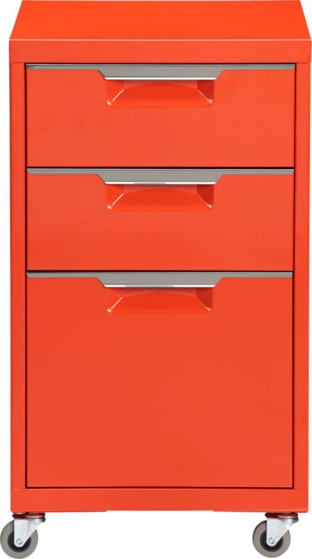 TPS bright orange file cabinet
