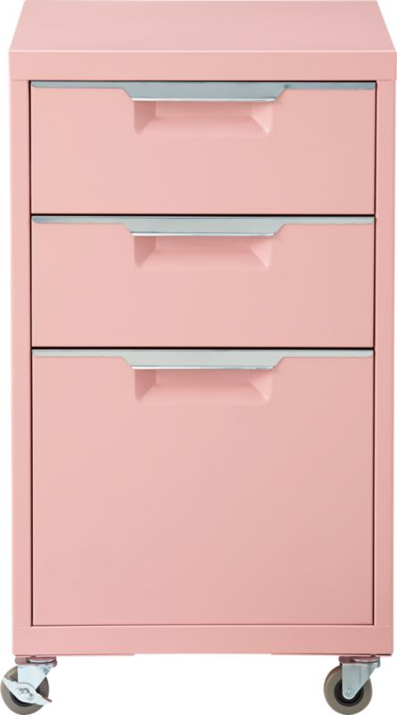 TPS pink 3-drawer filing cabinet