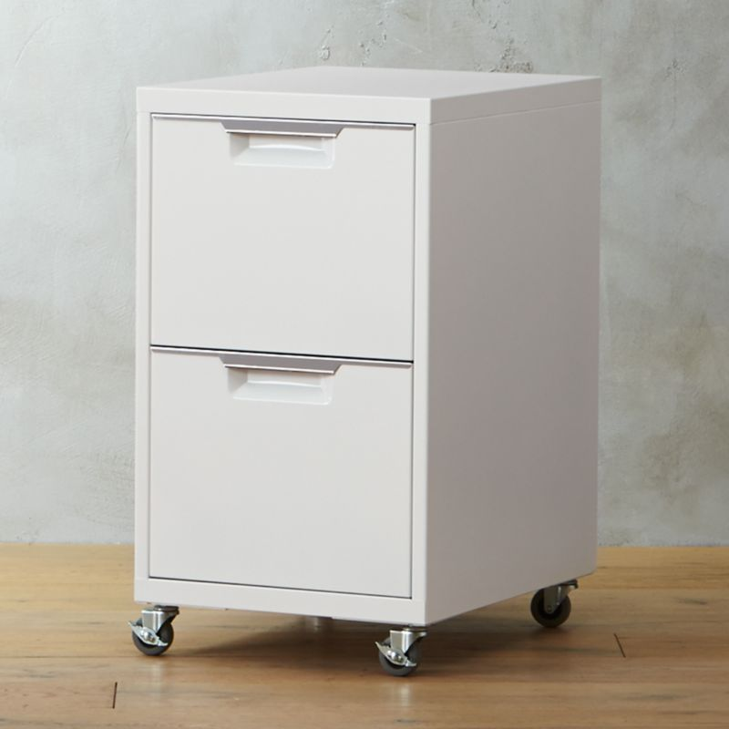 TPS White 2 Drawer Filing Cabinet
