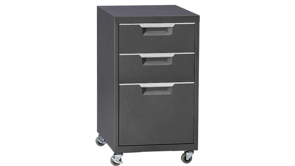 tps carbon rolling file cabinet | cb2