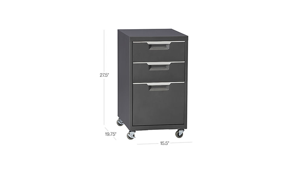 Tps Carbon Rolling File Cabinet Cb2