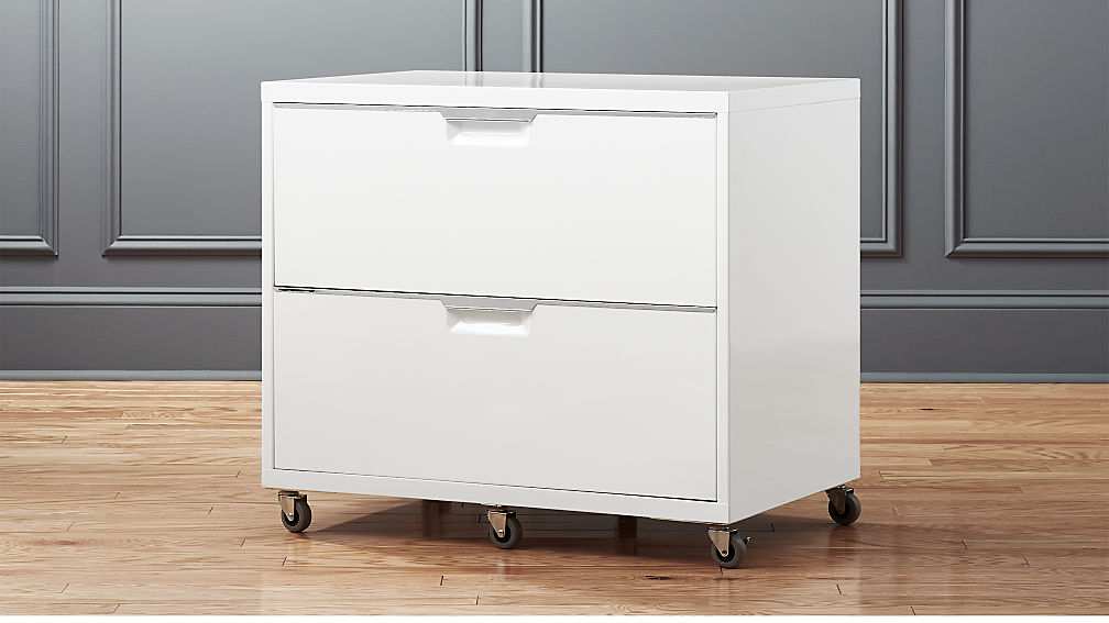 TPS White Wide Filing Cabinet