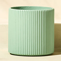 tahiti large cement mint green planter