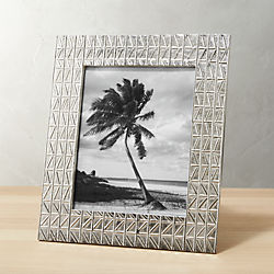 taj embossed nickel 8x10 picture frame
