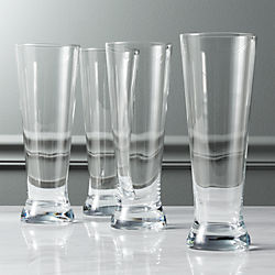set of 4 tall beer glasses