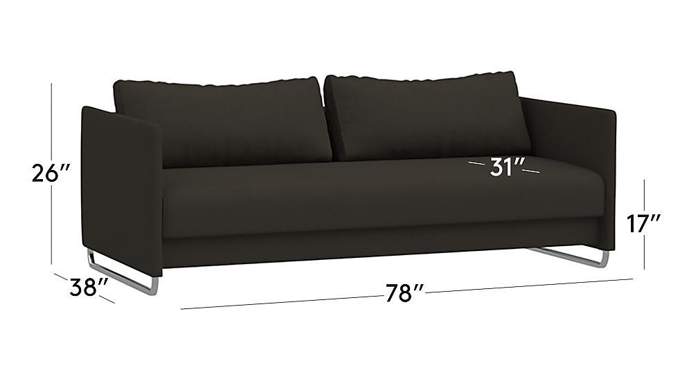 Tandom Dark Grey Sleeper Sofa Cb2
