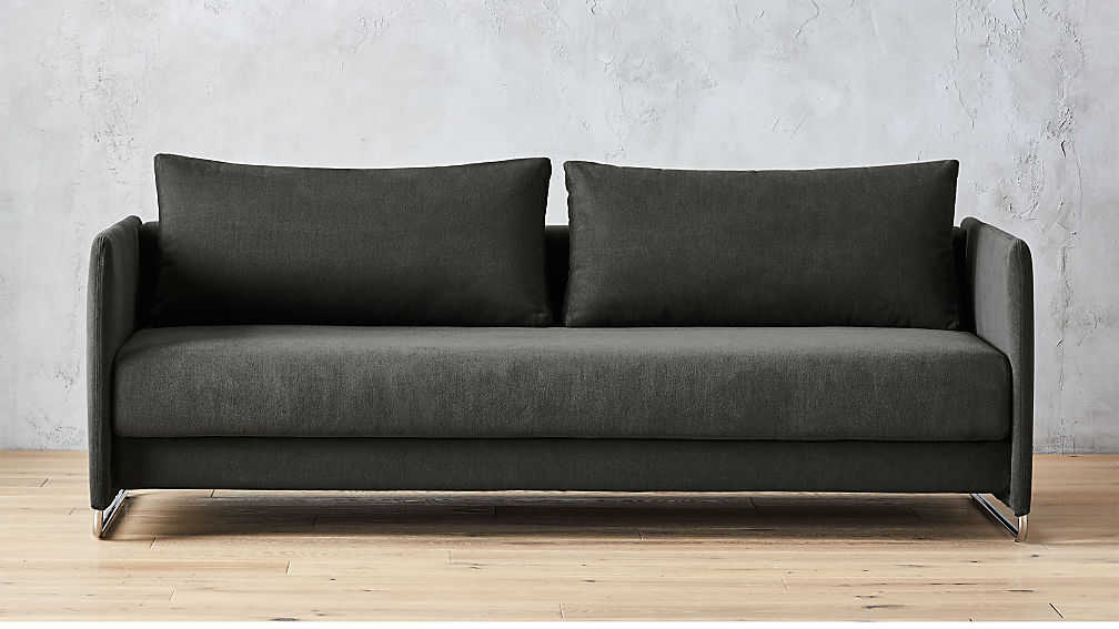 Tandom Dark Grey Sleeper Sofa Reviews Cb2