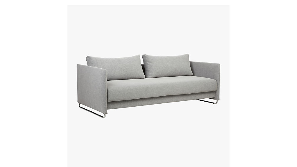 tandom microgrid grey sleeper sofa